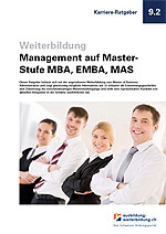 Download Management auf Master- Stufe MBA, EMBA, MAS